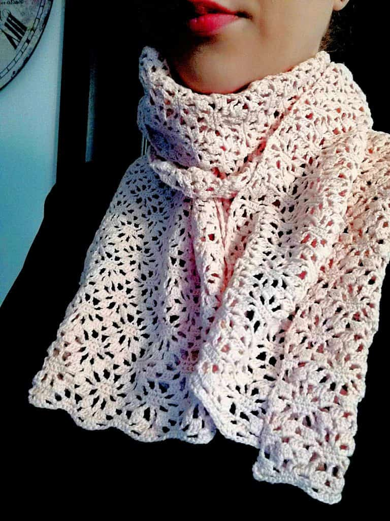 How To Crochet A Lace Scarf Free Pattern Turcoaz Cu Vanilie