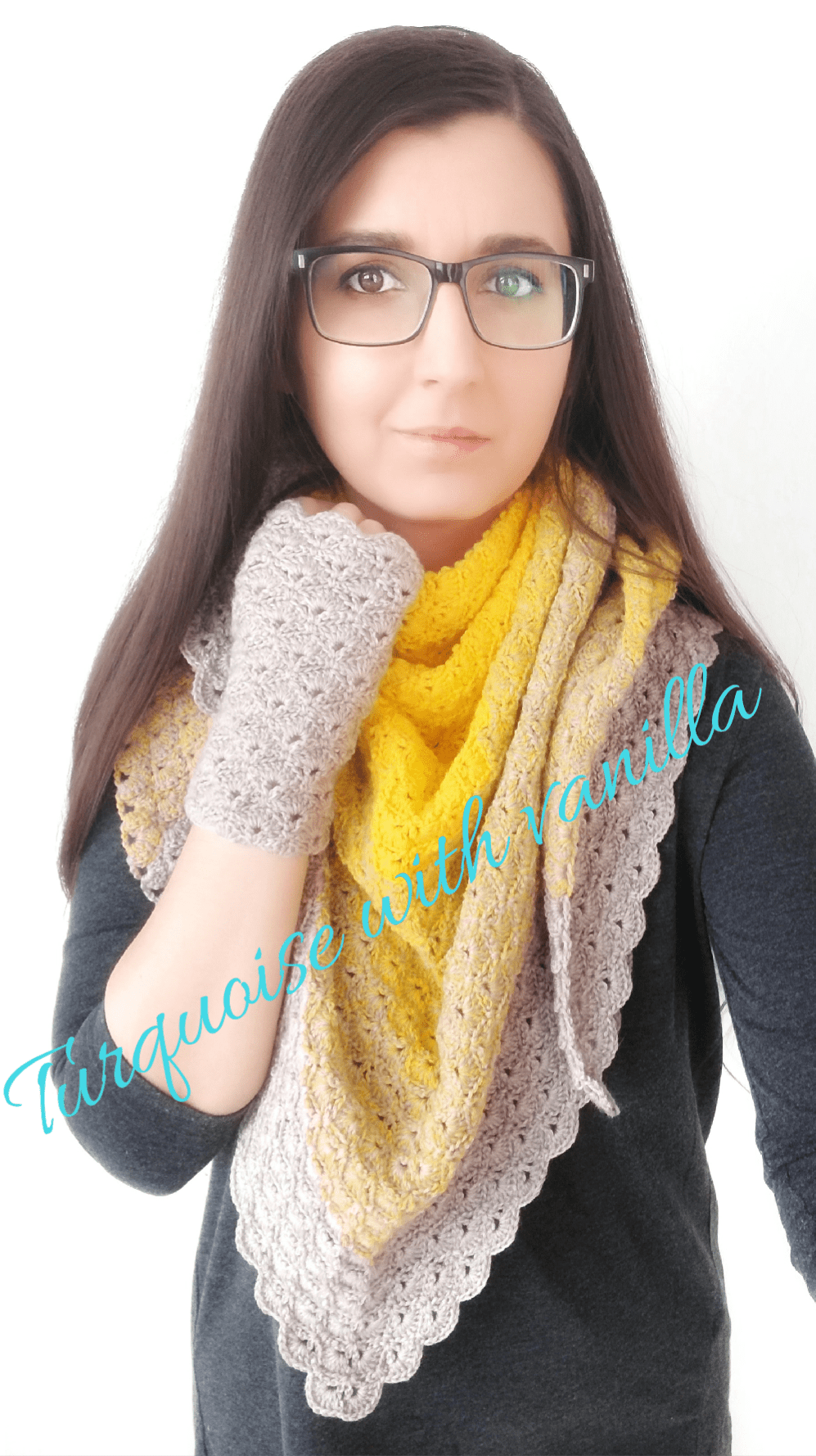 """How to crochet """"Sunny days"""" scarf/ the Shell stitch"""